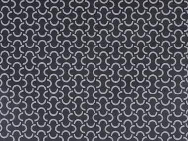 Embossed fire retardant upholstery fabric MEZZALUNA SN