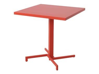 Folding square plate table MIA