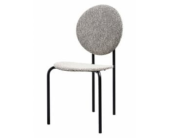 Medallion upholstered fabric chair MICHELLE | Fabric chair