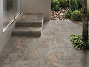 Porcelain stoneware outdoor floor tiles MIDLAKE PORFIDO