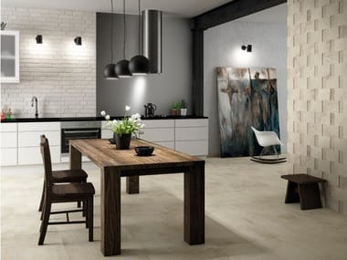 Technical porcelain wall/floor tiles with concrete effect MIDLAND