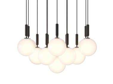 LED glass chandelier MIIRA 13 LARGE