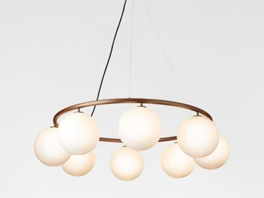 LED opal glass pendant lamp MIIRA 8 CIRCULAR OPAL