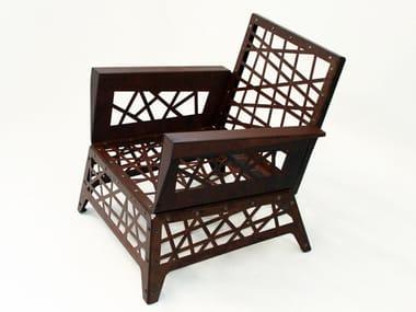 Corten™ garden armchair with armrests MIKADO | Garden armchair