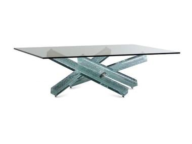Tavolino quadrato in vetro MIKADO | Tavolino