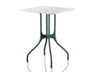 Square Carrara marble table MILÀ | Marble table