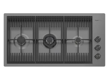 Gas flush-mount stainless steel hob MILANELLO 3F FT GUNMETAL