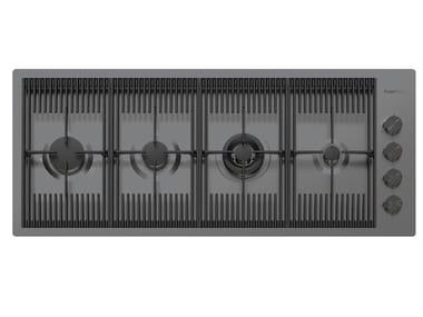 Gas flush-mount stainless steel hob MILANELLO 4F FT GUNMETAL