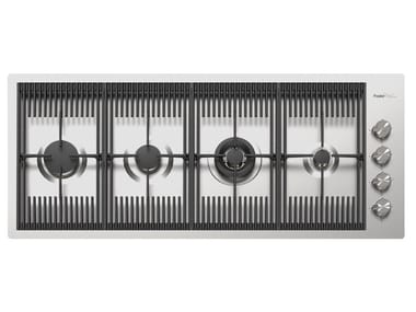 Gas flush-mount stainless steel hob MILANELLO 4F FT INOX