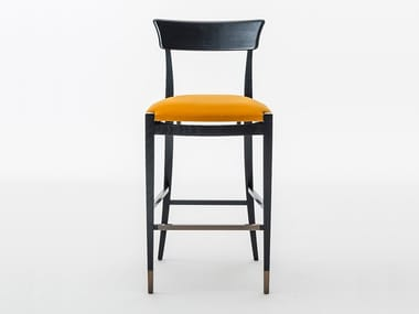 High upholstered stool with footrest NUOVA | High stool