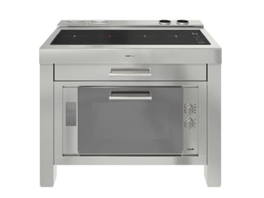 Stainless steel Kitchen unit for hob MILANO 4 VTC 120 INOX