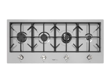 Gas flush-mount stainless steel hob MILANO 4F LINEA FT