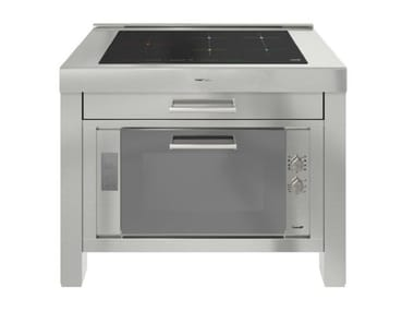 Stainless steel Kitchen unit for hob MILANO 5 INDUZIONE 120cm