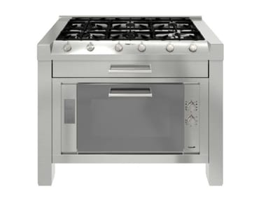 Stainless steel Kitchen unit for hob MILANO 6F 120cm INOX