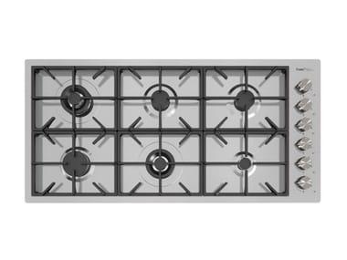 Gas flush-mount stainless steel hob MILANO 6F FT