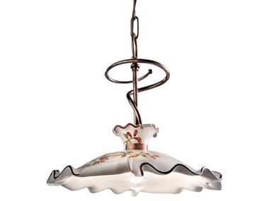 Ceramic and metal pendant lamp MILANO   Pendant lamp