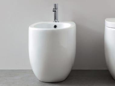 Floor mounted ceramic bidet MILK | Floor mounted bidet