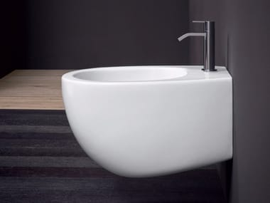 Wall-hung ceramic bidet MILK | Wall-hung bidet