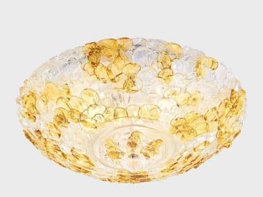 Plafoniera fatta a mano in vetro di Murano MIMOSA