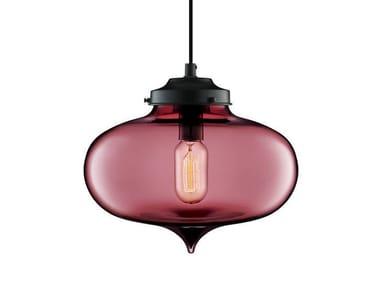 Lampada a sospensione a LED fatta a mano in vetro soffiato MINARET