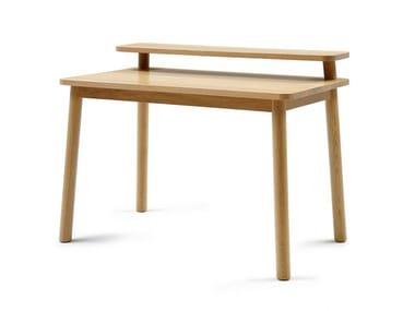 Rectangular wooden writing desk MINE DESK