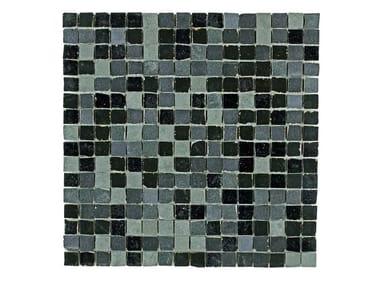 Rivestimento in gres porcellanato effetto metallo MINERAL | Mosaico Black Iron M0MA