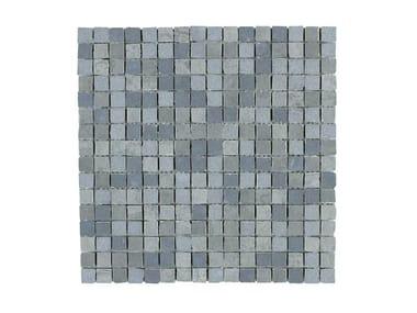 Rivestimento in gres porcellanato effetto metallo MINERAL | Mosaico Silver M0MC