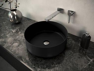 Rundes Einzel- Waschbecken aus emailliertem Stahl MING
