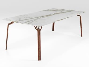 Mesa de jantar retangular de mármore MING | Mesa de mármore