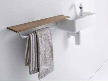 Rectangular wall-mounted Ceramilux® handrinse basin MINI BAULETTO
