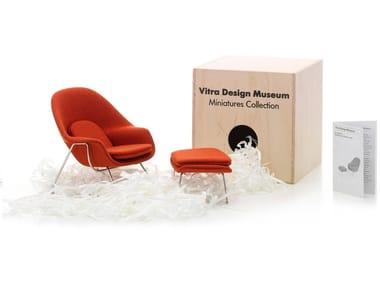 Fabric miniature MINIATURES WOMB CHAIR & OTTOMAN