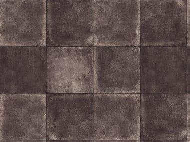 Porcelain stoneware outdoor floor tiles with stone effect MINIERA BLACK 3 CM
