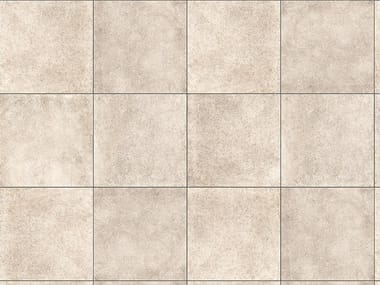 Porcelain stoneware outdoor floor tiles with stone effect MINIERA WHITE 3 CM