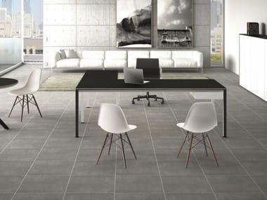 L-shaped laminate office desk MINIMUM | L-shaped office desk