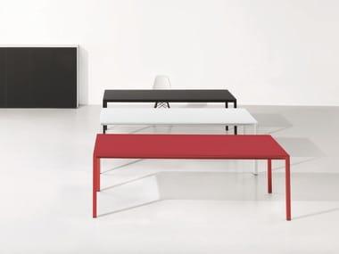 Rectangular satin glass office desk MINIMUM   Satin glass office desk