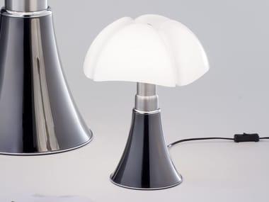 Lampada da tavolo in titanio MINIPIPISTRELLO TITANIUM VERSION