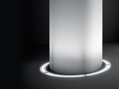 Segnapasso a LED a pavimento in alluminio estruso per esterni MINIROUND