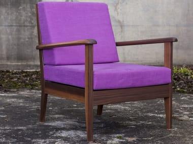 Fabric armchair with armrests MIO JOHANNSSON