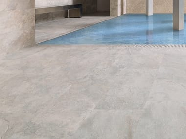 Wall/floor tiles with stone effect MIRAGE SILVER