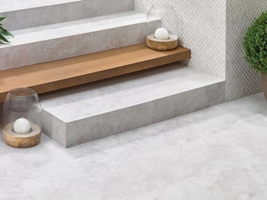 Wall/floor tiles with stone effect MIRAGE WHITE