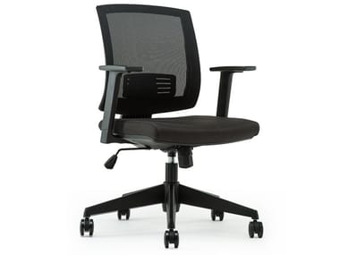 Mesh task chair with 5-Spoke base with castors MIRO-2C
