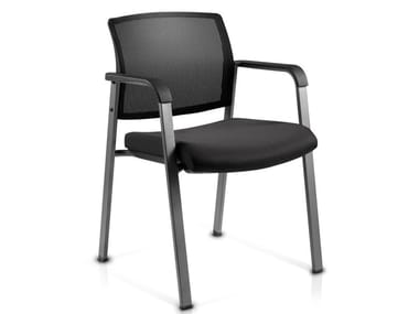 Mesh chair with armrests MIRO-3P