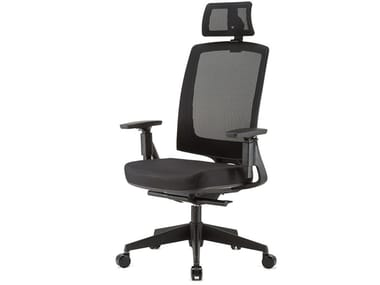 Executive chair with 5-spoke base with headrest miroE