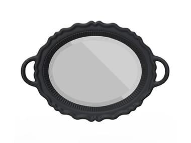 Oval framed mirror MIROIR