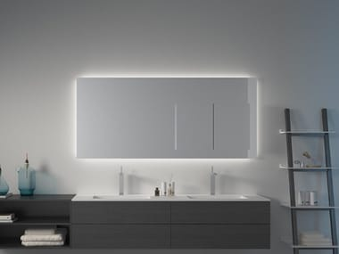 Wall-mounted bathroom mirror with cabinet MIRR IN MIRROR