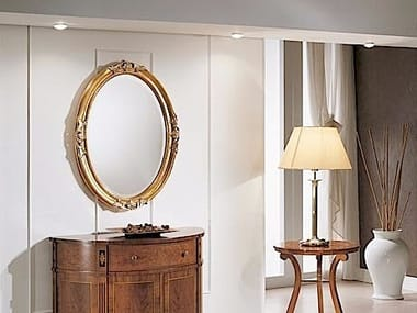 Oval wall-mounted framed mirror DIANA | Mirror