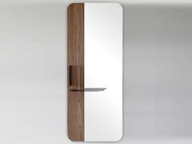 Rectangular wall-mounted mirror with shelf BLABLA   Mirror