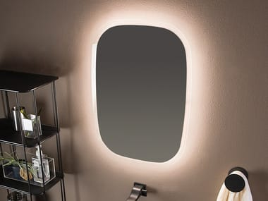 Wall-mounted mirror with integrated lighting FLAG | Mirror