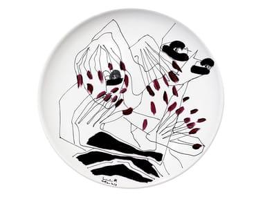 Piatto piano in ceramica MIRROR III