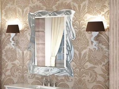 Rectangular wall-mounted framed mirror VERSAILLES | Mirror